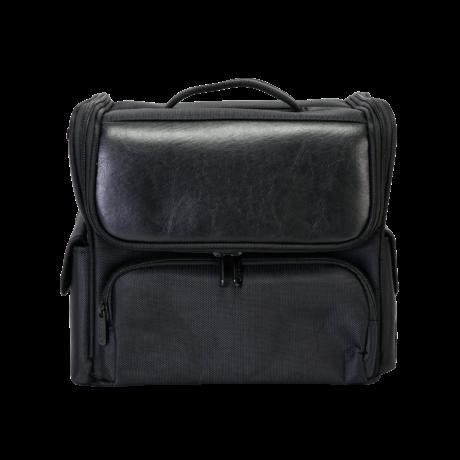 Sminkes Kozmetikai táska / műkörmös táska, fekete színben, 33x27x20cm