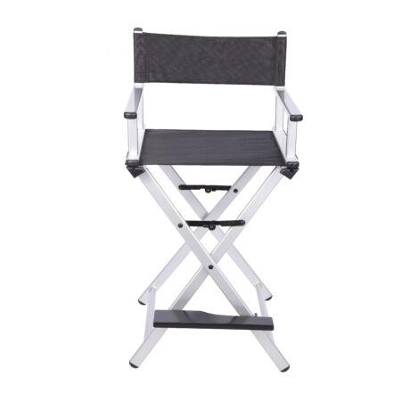 Összecsukható smink szék ezüst színben