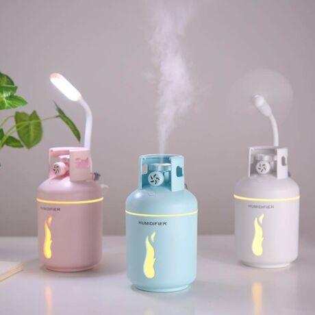 Mini párásító LED-es lámpával