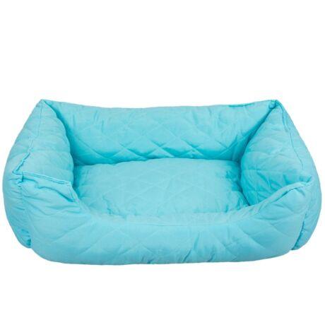 Fekhely Kistestű Kutyáknak, Cicáknak 55x45x18 cm kék színben
