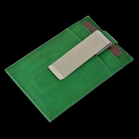 Valódi bőr Kétoldalas Kártyatartó díszdobozban OP-8511 VERDE
