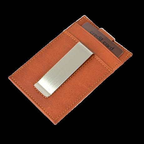Valódi bőr Kétoldalas Kártyatartó díszdobozban OP-8511 MARRONE