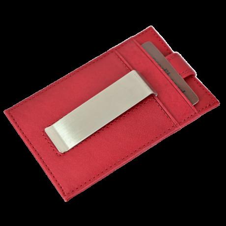 Valódi bőr Kétoldalas Kártyatartó díszdobozban OP-8511 ROSSO