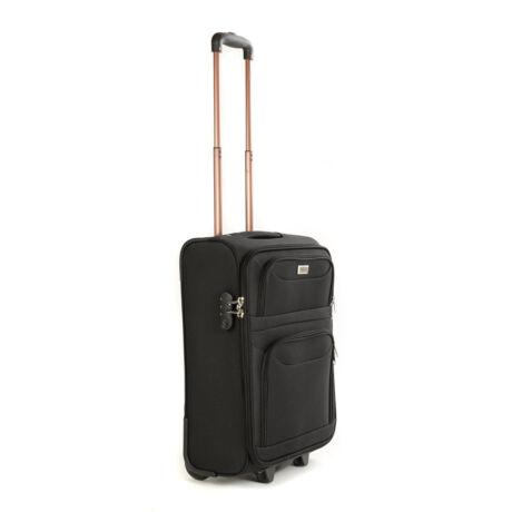 Kabin Bőrönd (2 Kerék) 55x39x20 Cm Fekete